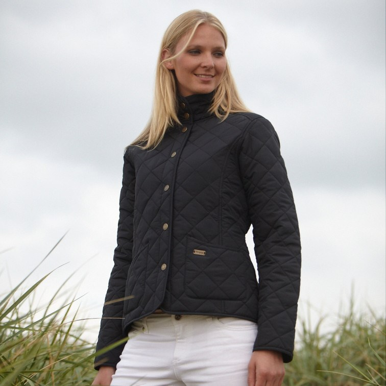 Toggi Sandown Ladies Quilted Jacket - Black - Redpost Equestrian : ladies quilted jacket sale - Adamdwight.com